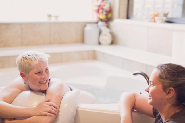 Melissa Birth Talking in Birth Tub