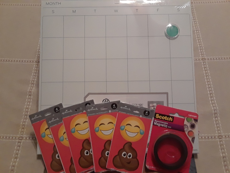 potty training chart supplies